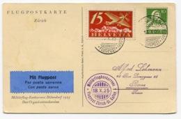 RC 13680 SUISSE 1925 MILITARFLUGKONKURRENZ ZURICH ST GALLEN 1er VOL FFC - Erst- U. Sonderflugbriefe