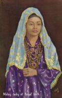 Malay Malaysia, Lady Of Royal Birth, Necklace Jewelry (1920s) Tuck Postcard - Malaysia
