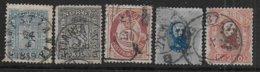 Norvège N° 8 - 11 - 30 - 33 - 34  - Cote : 154 € - Oblitérés