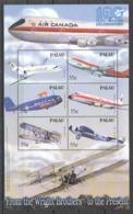 W776 PALAU TRANSPORTATION 100 YEARS OF AVIATION CELEBRATION 1KB MNH - Airplanes