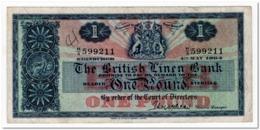 SCOTLAND,BRITISH LINEN BANK,1 POUND,1964,P.166c,VF,pen Marks. - Scozia
