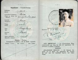 1950- PASSEPORT Pour Le CONGO BELGE - LÉOPOLDVILLE - - Documents Historiques