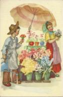 Bambina (Fioraia) E Bambino Gestori Chiosco Di Fiori - Scene & Paesaggi