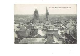 Cpa - 50 - Coutances - Vue Générale Coté Sud  - N°8 - église Travaux échafaudage - Coutances