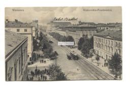 Warszawa, Warsaw - Krakowskie-Przedmiescie, Road, Trams - Old Poland Postcard - Poland