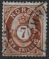 Norvège N° 21  - Cote : 75 € - Oblitérés