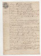 Belgique Mons St Ghislain 1821 De 1 Page Recto Verso - Manuscrits