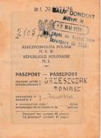 1930 - PASSEPORT POLONAIS Avec Sauf-conduit Pour Les Travailleurs étrangers Dépôt De TOUL - Documents Historiques