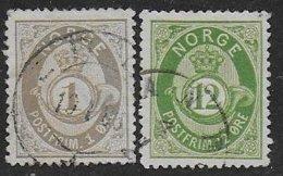 Norvège N° 22 - 26  - Cote : 33 € - Oblitérés