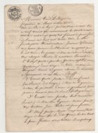 Belgique Mons Signé Omer De Bagenrieux 1824 De 4 Pages - Manuscrits
