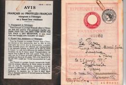 1939/40 - PASSEPORT FRANÇAIS Pour Un PUBLICISTE - Documentos Históricos