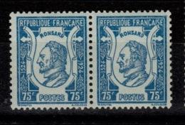 YV 209 N** Ronsard En Paire Cote 7+ Euros - Unused Stamps