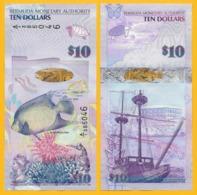 Bermuda10 Dollars P-59 2009 UNC Banknote - Bermuda