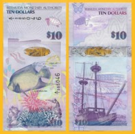 Bermuda10 Dollars P-59 2009 UNC Banknote - Bermudas