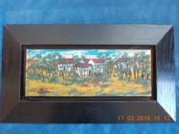 Edgar Stoebel (1909-2001) '' Cottages Dans Un Paysage '' ( Huile Sur Carton ) Artiste-Peintre Français - Huiles
