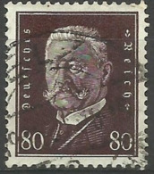 Germany - 1928 President Hindenburg 50pf Brown Used  Sc 381 - Used Stamps