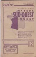 INDICATEUR CHAIX 1945 / SNCF / HORAIRES SUD OUEST ET OUEST - Europe