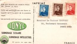 Ionyl 1954 - Téhéran - Carte Sur Les Traces De Marco Polo - Arrivée En Perse VII - Iran