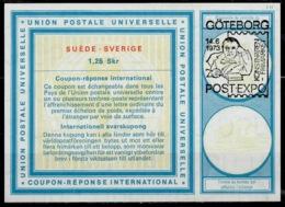 GÖTEBORG POST EXPO 1973 On International Reply Coupon Reponse IRCIAS Sweden Suède SverigeVi20 1,25 Skr - Exposiciones Filatélicas