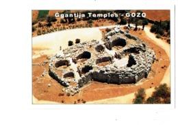 Cpm - Malte - Malta - GOZO - GGANTIJA TEMPLES - Travaux échafaudage - Lettres Alphabet - Malte