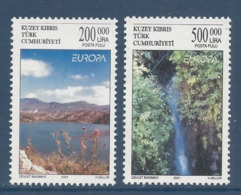Chypre Turc - Europa - Yt N° 499 Et 500 - Neuf Sans Charnière - 2001 - Cyprus (Turkey)