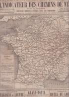 RARE ++ /  1875 !! / INDICATEUR DES CHEMINS DE FER CHAIX 1875 / COMPLET 75 PAGES - Europe