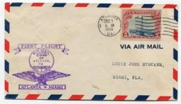 RC 13682 USA 1928 ATLANTA - MIAMI 1er VOL FFC - 1c. 1918-1940 Briefe U. Dokumente