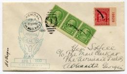 RC 13684 USA 1930 CHICAGO TO ATLANTA FLIGHT 1er VOL FFC - 1c. 1918-1940 Briefe U. Dokumente