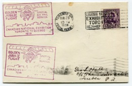 RC 13686 CANADA 1928 TORONTO TO QUEBEC FLIGHT 1er VOL FFC - 1911-1935 Règne De George V
