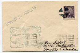 RC 13687 CANADA 1928 LONDON ONT. TO TORONTO FLIGHT 1er VOL FFC - 1911-1935 Règne De George V