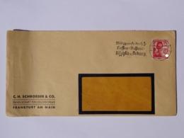 """1937 DR Brief Colloidchemie, Freistempel """"Märzparole Der H.J.-Hessen-Nassaus: Disziplin U. Ordnung"""" - Allemagne"""