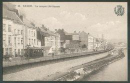 C.P. Neuve NAMUR Le Rempart Ad-Aquam + Tram Ca. 1905 - 14600 - Namur
