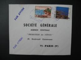 Enveloppe  Liban  1971  Pour La Sté Générale Agence Centrale Promotion Des Dépots en France Bd Haussmann Paris - Liban