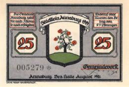 Notgeld  Serie 3x 25 3x50pfg.Stadt Annaburg UNC (I) - Lokale Ausgaben