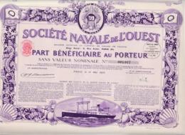 Alb 4) Actions & Titres > Société Naval De L'Ouest1923 (N= 4) - Aandelen