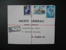 Enveloppe  AR  1390 Ghana 1971 Pour La Sté Générale Agence Centrale Promotion Des Dépots en France Bd Haussmann Paris - Ghana (1957-...)