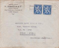 ENVELOPPE TIMBRE   1946 LIEGE A  BUENOS AIRES VOIR TIMBRES ET CACHETS - Altri