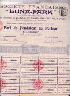 """Alb 4) Actions & Titres > Société Française """"Luna-Park1909 (N= 5) - Andere"""