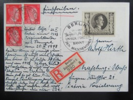 Postkarte Propaganda Hitler - R-Brief Berlin An Adolf Hi....rth : ) - Briefe U. Dokumente