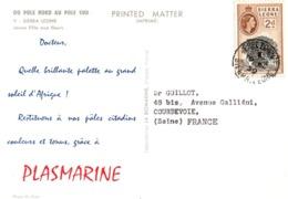 Plasmarine 1959 - Sierra Leone - Freetown - Jeune Fille Aux Fleurs - Sierra Leone (...-1960)