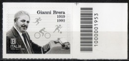 Italia Rep. 2019 - Gianni Brera Codice A Barre MNH ** - 6. 1946-.. Republic