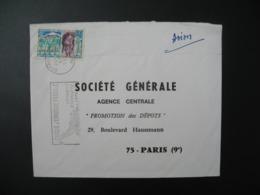 Enveloppe  Mali  1971 Pour La Sté Générale Agence Centrale Promotion Des Dépôts en France Bd Haussmann Paris - Mali (1959-...)