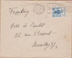 ENVELOPPE TIMBRE 1937 KOBENHAVN  A NEUILLY S/ SEINE FRANCE - Briefe U. Dokumente