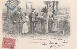 CPA:COUPLE DE BOHÉMIENS ET MONTREUR D'OURS PETIT SINGE (77) ÉCRITE - Frankreich