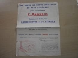 équipement F.RASSANT Pour Camionnette 2CV CITROËN - Automobile
