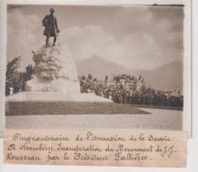 SAVOIE CINQUANTENAIRE DE L'ANNEXION A CHAMBERY  INAUGURATION JJ ROUSSEAU 18*13CM Maurice-Louis BRANGER PARÍS (1874-1950) - Places