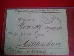 ENVELOPPE CORPS D OCCUPATION DU TONKIN TUYEN QUANG ENVOI CAPITAIME GUENSER MONTAUBAN 1889 - Viêt-Nam