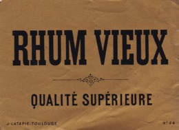 RHUM VIEUX  / QUALITE SUPERIEURE / LATAPIE / TOULOUSE - Rhum