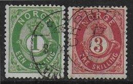 Norvège N° 16 - 18  - Cote : 57 € - Oblitérés