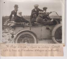 GRAND PRIX D'ANJOU VICTOIRE GARROS TOUR AÉRODROME D'ANGERS AUTOMOBILE 18*13CM Maurice-Louis BRANGER PARÍS (1874-1950) - Aviación